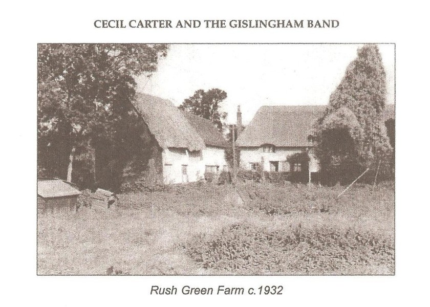 Photo from a book of Gislingham reminiscences by Cecil Carter