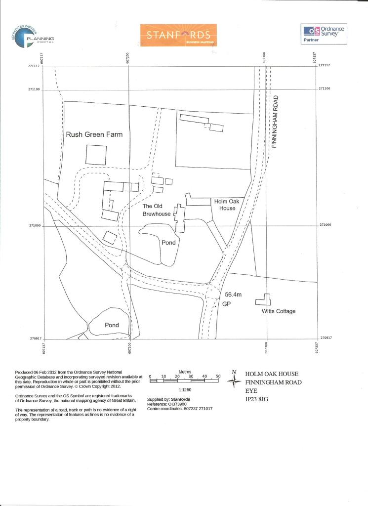 plan Old Brewhouse Suffolk Ordnance Survey 001