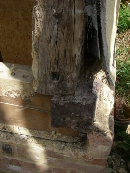 The corner post needed tying in better to the sole plate