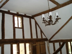 The chandelier installed in the main bedroom, 2009