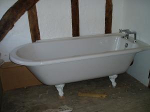 Installing the bath, spring 2009.