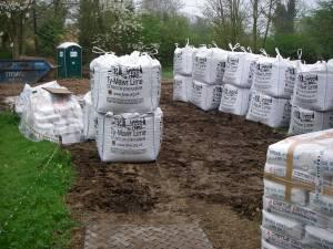 Materials for the limecrete floor
