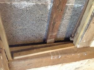 Some battens had to be fitted to irregular wall sections