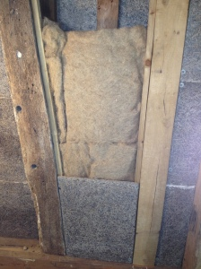 Two 755mm layers of hemp fitted in without compressing it. The material was easy to shape.