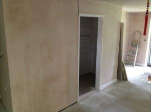 Modern plasterboard and plaster skim inside