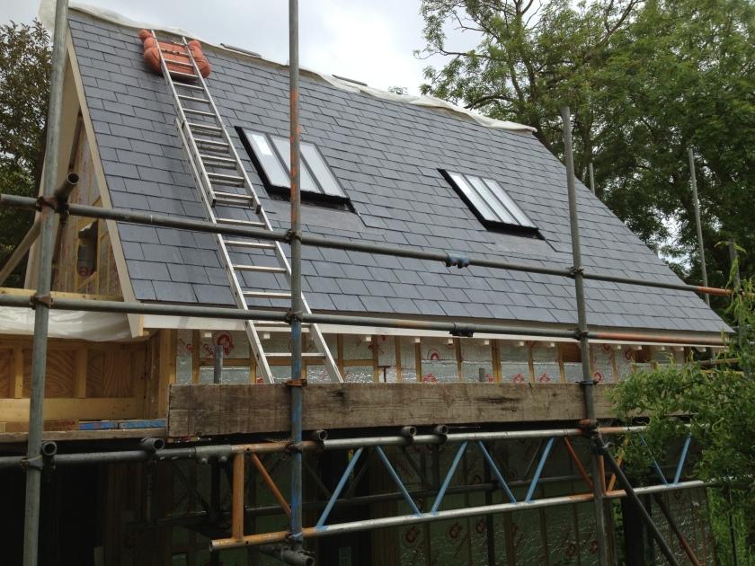 Slates done, Conservation Roof Lights installed