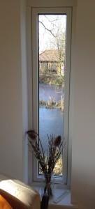 A sideways glimpse of the pond
