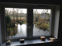 The pond from the bedroom